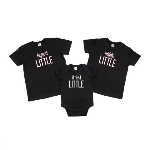 Biggest Little, Middle Little, Littlest Little Sibling Tees [kids]