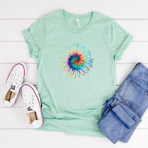 Tie Dye Sunflower Tee [Womens]