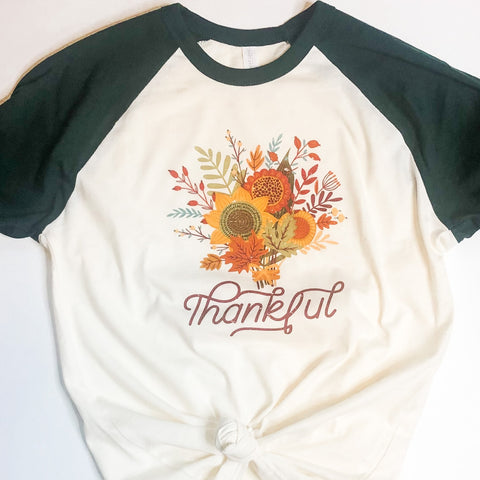 Thankful Floral Tee [Womens]