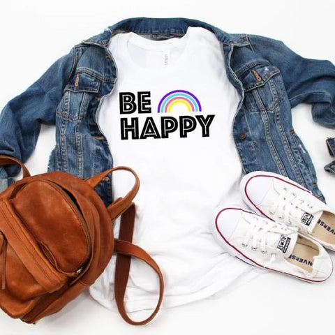 BE HAPPY Rainbow Tee [Womens]