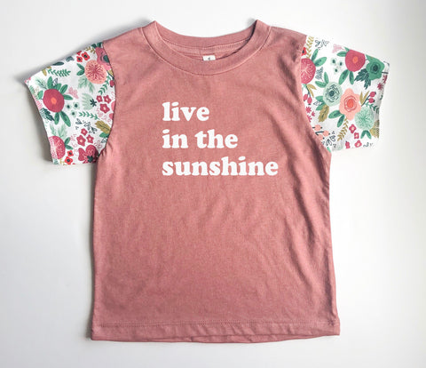 Live in the Sunshine Floral Sleeve Tee [kids]