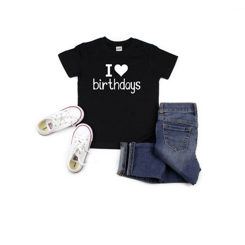 SALE! I LOVE Birthdays Tee [Kids]