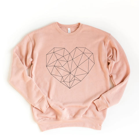 Geo Heart Sweatshirt [Womens]