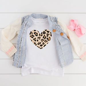 Animal Print Heart Tee [Kids]