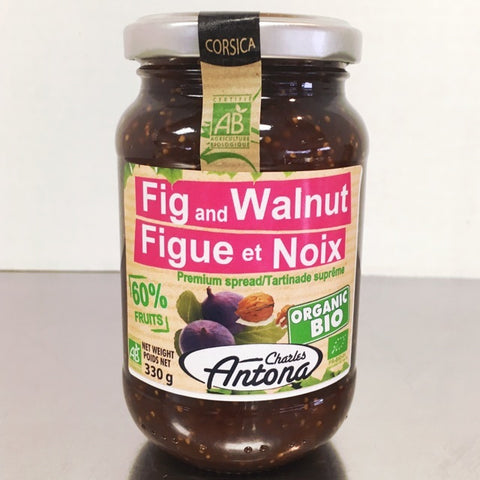 Charles Antona Organic Fig & Walnut Jam - Cheesyplace.com