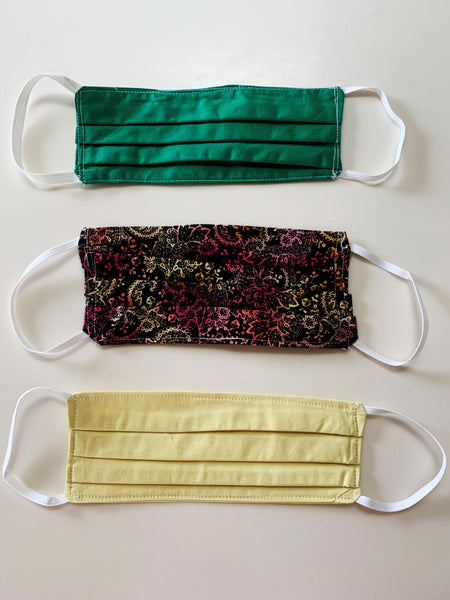 3 PACK Cloth Face Mask (WASHABLE/REUSABLE)