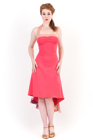 bright peony dress - poema clothing