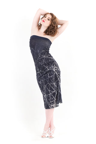 dew web strapless dress - poema clothing