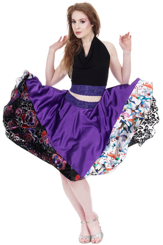 amaranth skirt - poema clothing