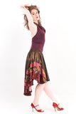 marsala halter dress