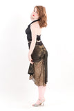 gold foil fishtail skirt