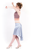 the signature skirt in silver blue