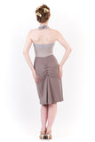 greyscale ruched dress