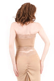 gold dust ruched halter