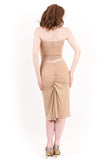 gilt dust ruched skirt