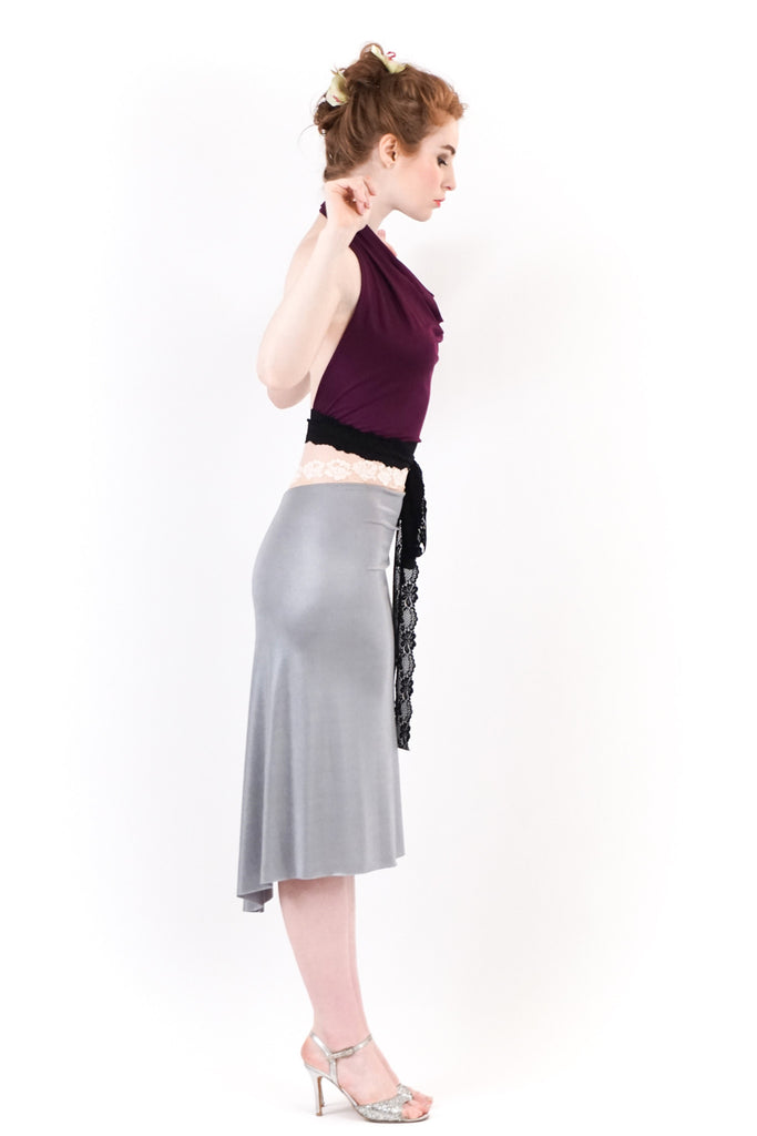 sea moss fluted skirt