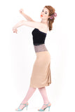 gold dust ruched skirt