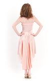 veiled rose strapless dress