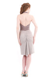 silent films ruched halter dress