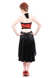 the signature skirt in black sequins