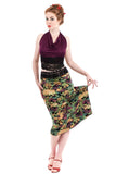 painted pond ruched skirt