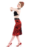 bed of roses ruched skirt