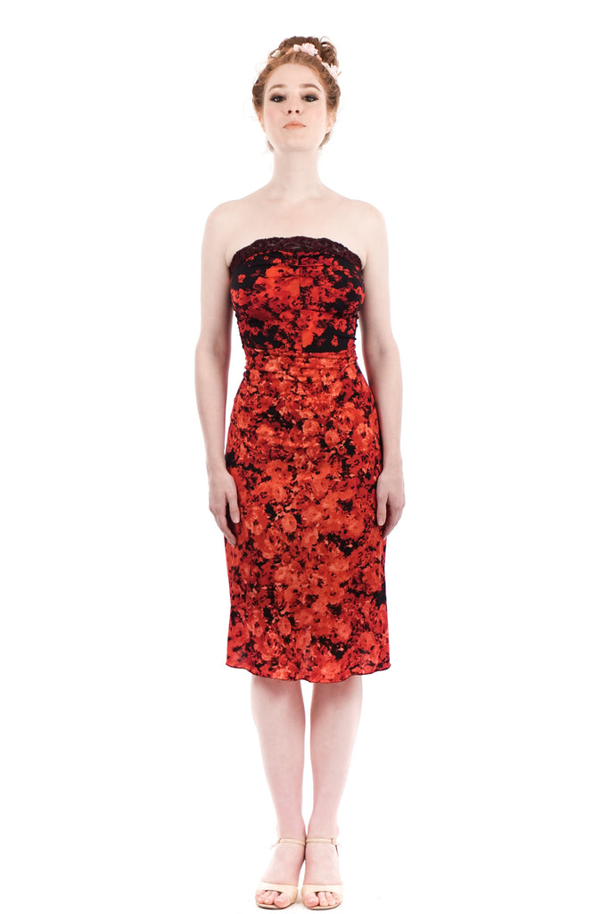 bed of roses ruched strapless dress