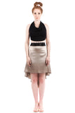 the signature skirt in silver and iron