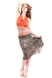 kismet pebble fluted skirt