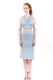 alice blue ruched skirt