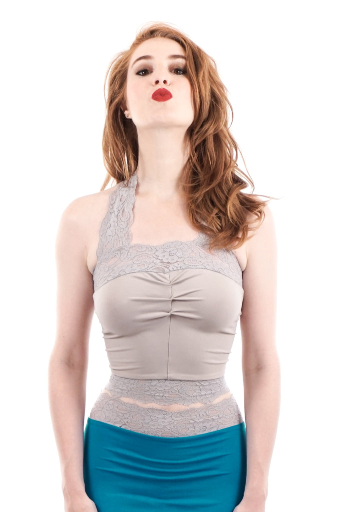 dove ruched halter
