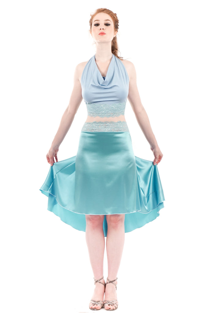 the signature skirt in turned penny
