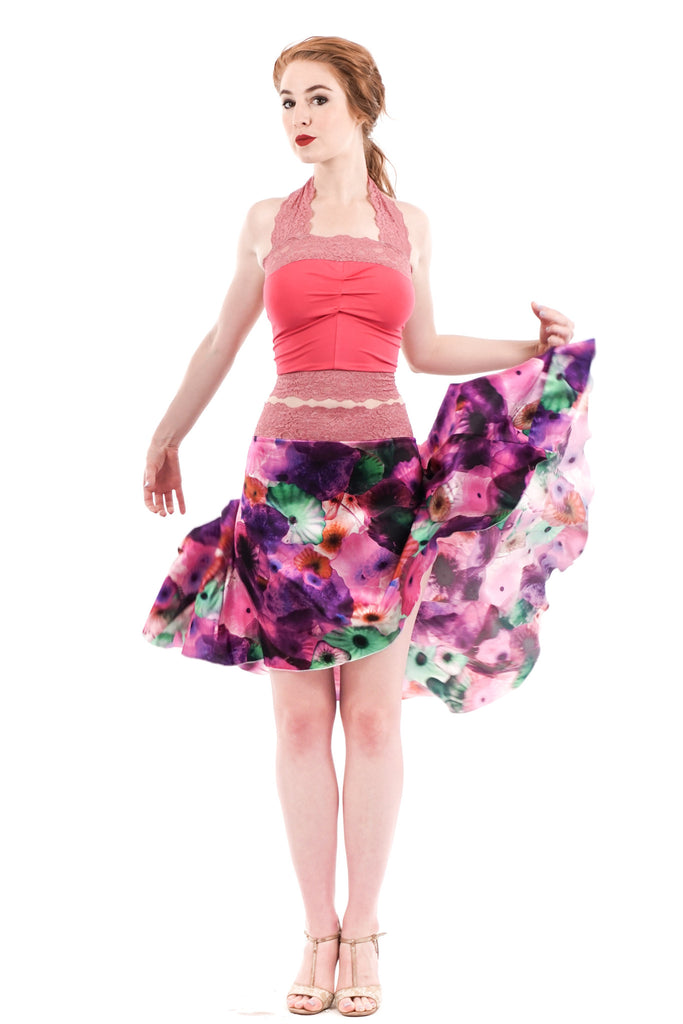 the signature skirt in glassine bouquet