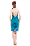 pigment blue ruched dress