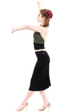 beetle black ruched skirt