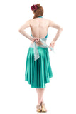 the signature skirt in emerald chalk