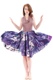 violet cosmos halter dress
