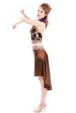 the signature skirt in flowering cinnamon