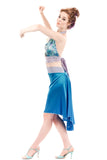 the signature skirt in pigment blue