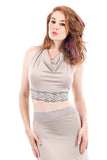 silver key wrap top