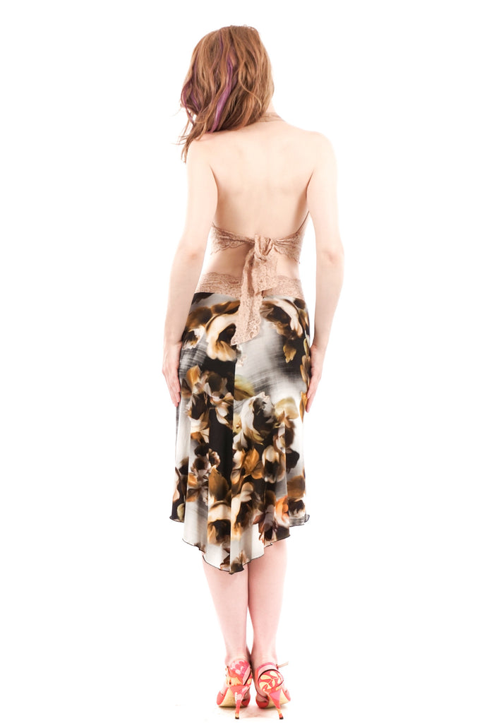 ghost blossom fluted skirt