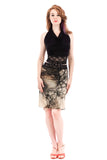 fractal forest fluted skirt