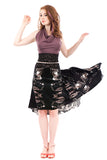 the signature skirt in echo silk