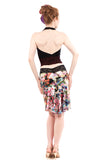 photofloral fluted skirt