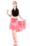 the signature skirt in fluoro flamingo