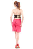 hot pink ruched skirt