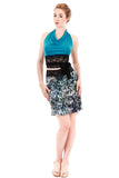sequined serpent short skirt