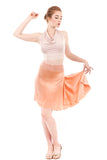the signature skirt in coral rock