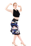 nightfeathers ruched skirt