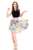 the signature skirt in glass flowers